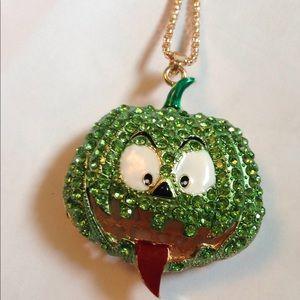 Betsy Johnson screaming pumpkin necklace
